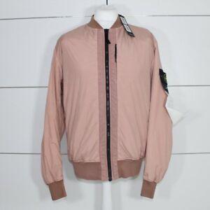 pâle aviateur en Stone Garment Island teinté Blouson rose teint plis OzgxzUw