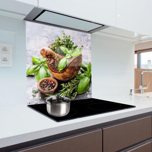Cuisine Verre Splashback résistant à la Chaleur Verre Trempé 60x65cm