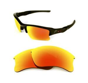 df77c47958 NEW POLARIZED CUSTOM FIRE RED XLJ LENS FOR OAKLEY FLAK JACKET ...