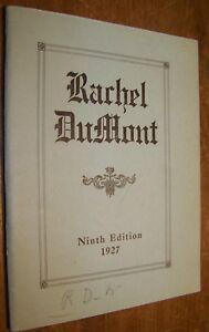 1927 RACHEL DUMONT BRAVE REVOLUTIONARY WAR MAID KINGSTON NY BOOK MARY WESTBROOK eBay