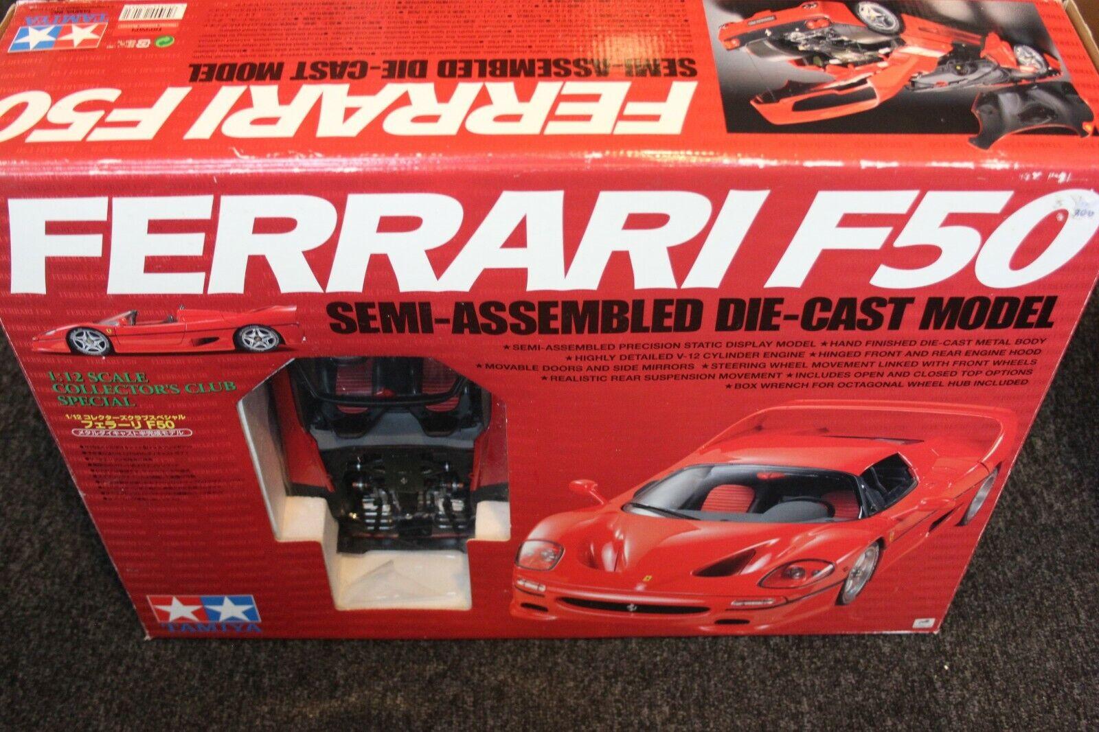 Tamiya semi-assembled kit Ferrari F50 1 12 rosso (PJBB)