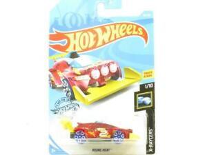 Hotwheels-Rising-Heat-X-Raycers-Red-85-250-Long-Card-1-64-Scale-Sealed-New
