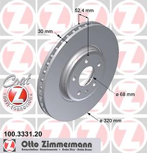 2 Stück Zimmermann 100.3331.20 COAT Z Bremsscheibe