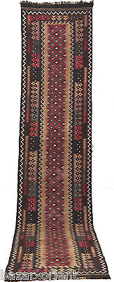 390x85 cm orient Teppich Afghan Uzbekische Nomaden läufer kelim kilim rug No:16