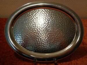 DDR-aluminio-Servier-bandeja-Vintage-para-1970-Hammer-golpe-Optik-26-cm