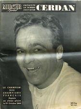 Miroir Sprint Numéro Souvenir - Marcel Cerdan disparu en pleine gloire - Boxe