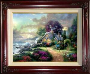Thomas-Kinkade-A-New-Day-Dawning-25-x34-S-N-Canvas