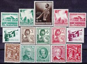 Nazi-3rd-Reich-15-Rarer-Issues-1934-1939-MINT