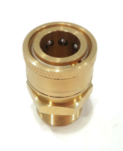 Quick-Connect Threaded Brass Coupler M22 Male End x 3//8 inch Female Fitting