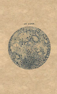 Image Is Loading Framed Print Vintage Moon Picture LA LUNA Space