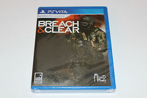 NEW-amp-SEALED-Breach-and-Clear-Playstation-PS-Vita-BEAUTIFUL-SHAPE-1500-COPIES