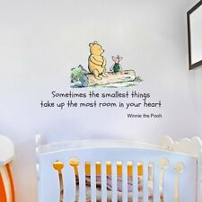 Disney Winnie the Pooh Quote Large Wall Sticker Decal Mural Vinyl Art
