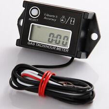 Digital Tach Tachometer Hour Meter For lawnmower ATV Generator Spark Plug