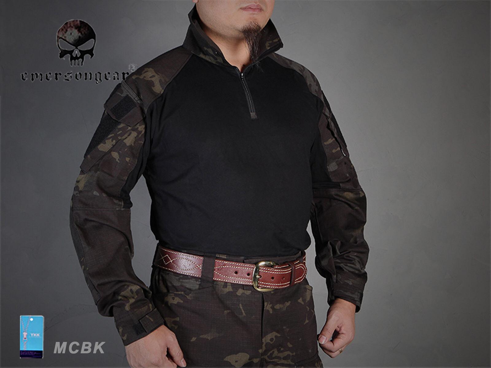 Men Airsoft Hunting Tactical bdu Shirt Emerson Combat Gen3  MCBK  fashion