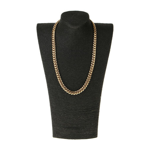 Gold Tone Stainless Steel Heavy Link Curb Cuban Chain Men/'s Punk Necklace
