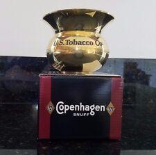 US Tobacco 1999 Copenhagen Snuff  Brass Spittoon in Orig Box