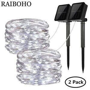 Luces-solares-de-cadena-decorativas-a-prueba-de-agua-Navidad-Fiesta-200-LED-72ft