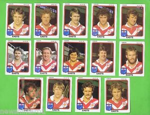 1981-EASTERN-SUBURBS-ROOSTERS-SCANLENS-RUGBY-LEAGUE-TEAM-CARDS