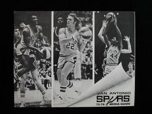 1975-76 San Antonio Spurs Basketball Media Guide
