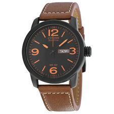 Citizen Eco Drive Brown Leather Mens Watch BM8475-26E
