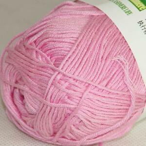 Sale New 1ballX50g Soft Baby Socks Natural Smooth Bamboo Cotton Knitting Yarn 24