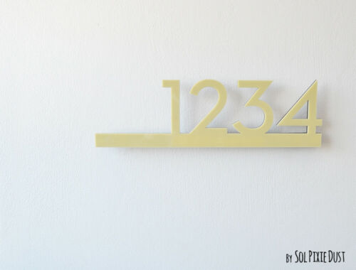Modern House Numbers Acrylic Contemporary Home Address Sign Plaque Door No