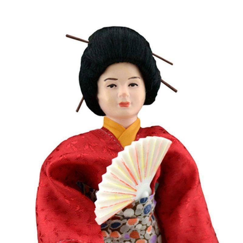 Dollhaus Dressed Asian Lady Caco DHS1645 Flexible Japan kimono Miniature