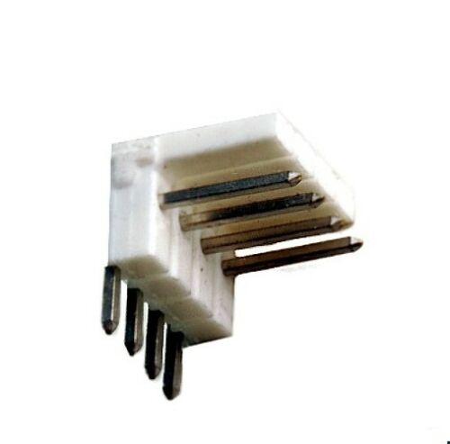 5St. rechts gewinkelt Stiftleiste 4-polig polarisiert RM 2.54 vz l=7.70mm