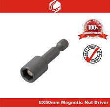 "1/4"" Shank 8mm Magnetic Hex Socket Spanner Nut Driver Bit - 50mm"