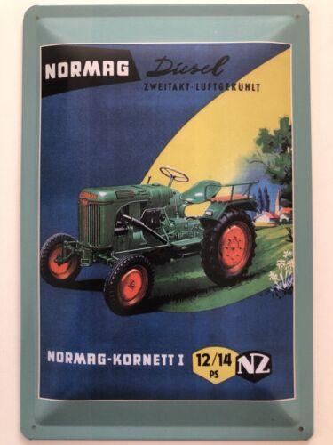 Blechschild 30 X 20 cm Normag Kornetti 1 12//14 PS
