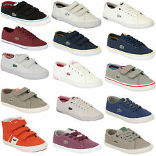 dda4602aa0db2 Boys Girls LACOSTE Trainers Kids Chunky Pumps Casual Shoes Lace Up Youth  Toddler