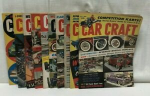 Lot 10 1960 Car Craft Magazine Feb March May June July Aug Sept Oct Nov Dec
