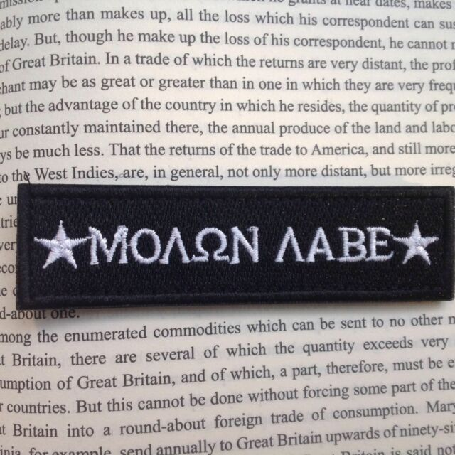 88852c0e6fa6 MOLON LABE TACTICAL MILITARY USA ARMY ISAF MORALE BADGE SWAT PATCH BLACK