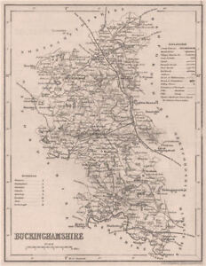 Seats Canals Polling Places 1845 Dugdale/archer Buckinghamshire County Map