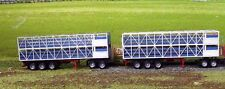 Aussie ROAD TRAIN 2 Cattle Stock Trailers Wooden Kit HO 1/87 Scale Herpa WModels