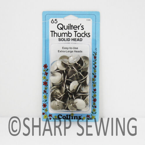 COLLINS QUILTERS THUMB TACKS 65 EACH # C330 330