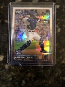 2015 Topps Chrome James McCann rookie Mets Tigers White Sox