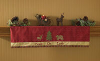 Mantle Scarf Or Valance - Balsam & Berries By Park Designs - Christmas