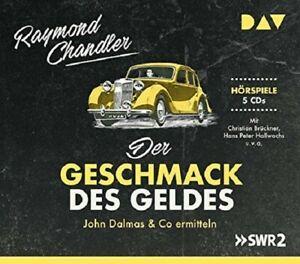 RAYMOND-CHANDLER-DER-GESCHMACK-DES-GELDES-HARTE-FALLE-FUR-SMARTE-5-CD-NEW