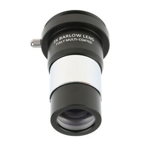 2X-Barlow-Lens-1-25-Multi-Coated-Metal-for-Telescope-Eyepiece-T-Adapter