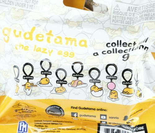 Gudetama Lazy Egg Blind Bag Backpack Keychain Dangler Hanger Clip Hiding In Egg