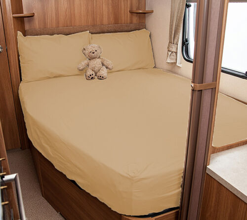 White Compass Corona 626 Walnut Whip Caravan Fitted Sheet Ivory 2008