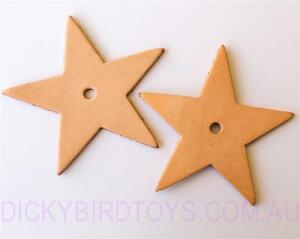 DICKY-BIRD-TOYS-2-LEATHER-STAR-TOY-BASES-FREE-POSTAGE-ORDERS-50