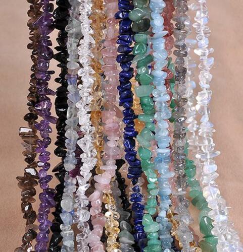 BAILYSBEADS 1 Strang Splitter Edlesteine Perle Splitterkette 85cm Ohne Verschluß