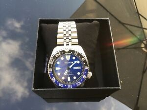 SEIKO SKX007 Black ProspeX Dial, Batman GMT Bezel, Auto. Custom 7s26-0020 Diver