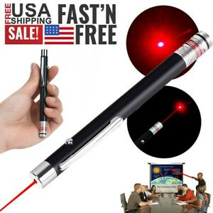 Zoomable 650nm Red Beam Laser Pointer Pen Pet Toy Visible Lazer Light+Batt+Char