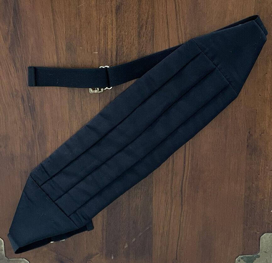 Vintage Mel Howard Pleated Padded BLACK Cummerbund Made in the USA Adjustable