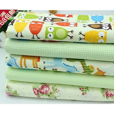 5pcs 50cm*40cm cotton Cartoon fabric baby bedding pillow patchwork quilt tecidos