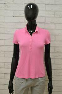 Polo-SUN68-Donna-Taglia-Size-M-Maglia-Maglietta-Camicia-Shirt-Woman-Cotone-Rosa