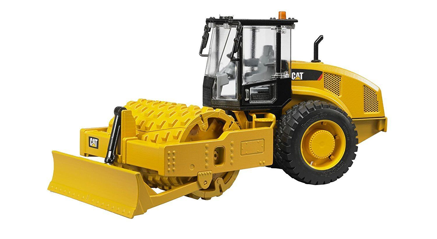 Bruder Caterpillar vibratory soil compactor with levelling blade - bruder 02450